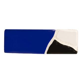 Accessoire cheveux créateur - Barrette rectangle graphique en émail