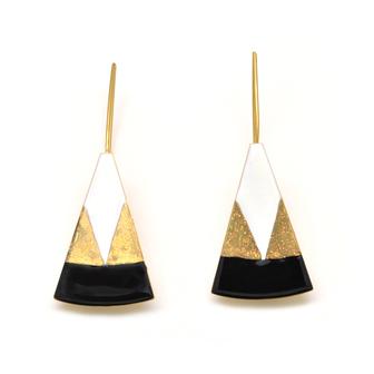 Bijou créateur français - boucle d'oreille triangle