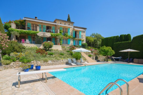Villa in Mougins for long term rent with amazing views over bay of Cannes and Mandelieu, Cote D'Azur