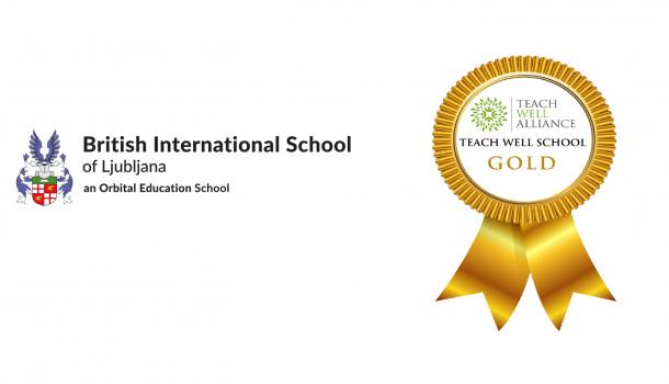 BISL receives  Teach Well School Gold Award