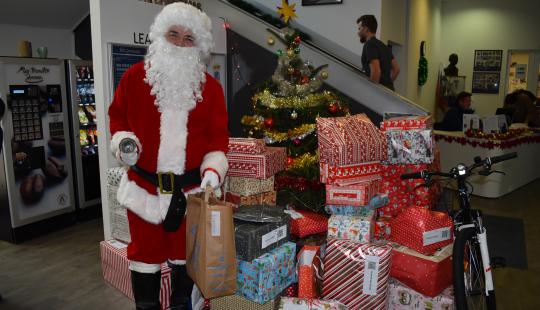 Santa visits the BISL Christmas Market