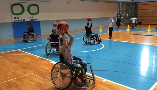 Day with Slovene Paralympic athletes