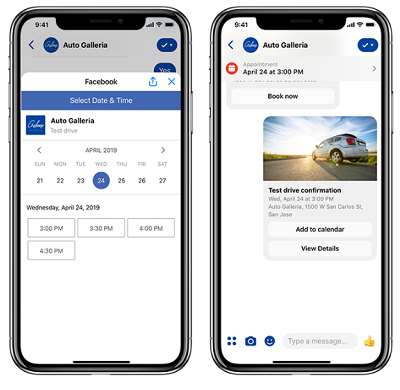 Booking Messenger Exemple