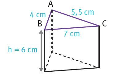 hauteur d un prisme droit