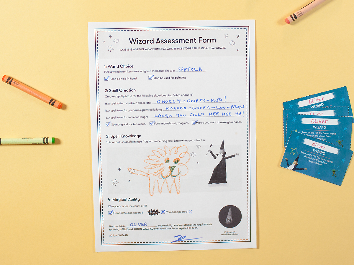 Wizard assessment form | Wonderbly