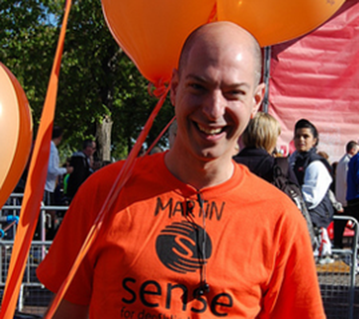 Support 'Sense' with Martin (running London Marathon 2017)