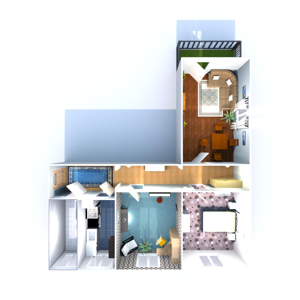 Wohnfläche 74,85 qm