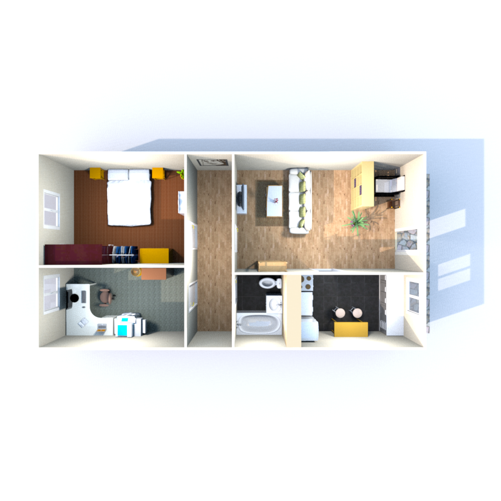 Wohnfläche 68,80 qm