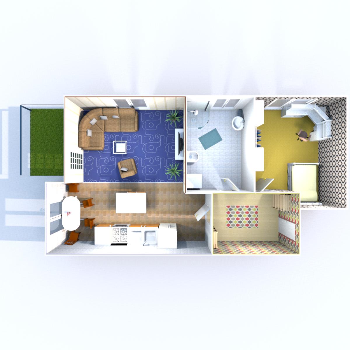 Wohnfläche (ohne Balkon) 48,89 qm