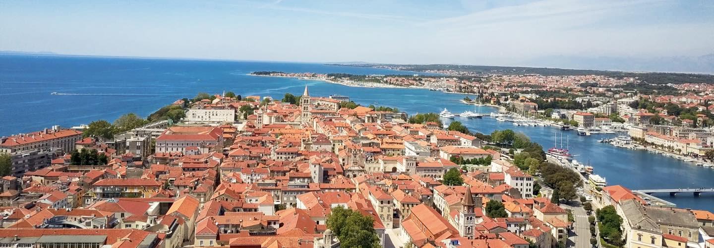 Skyline of Zadar Croatia and the Adriatic Sea at the northwestern part of Ravni Kotari region