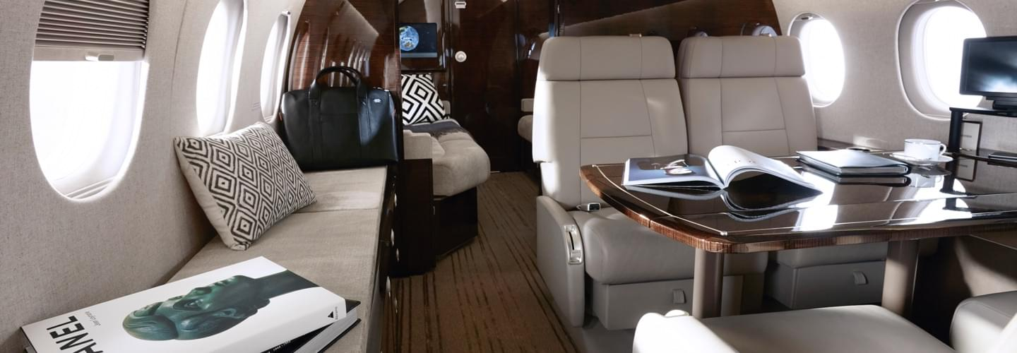 Magazines and newspaper available on board private jets.