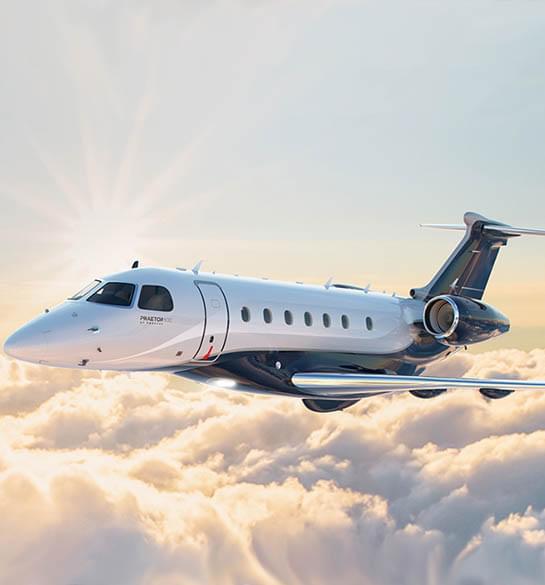 Zwei brandneue Embraer-Jets in der privaten Luftfahrt-Arena eingesetzt werden