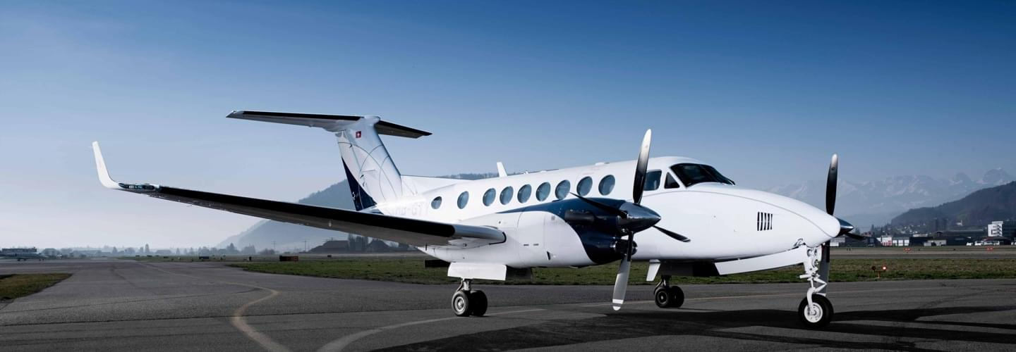Turboprop Beechcraft King Air 350i to charter with Lunajets perfect for short-haul trips to any airfield at low operating costs