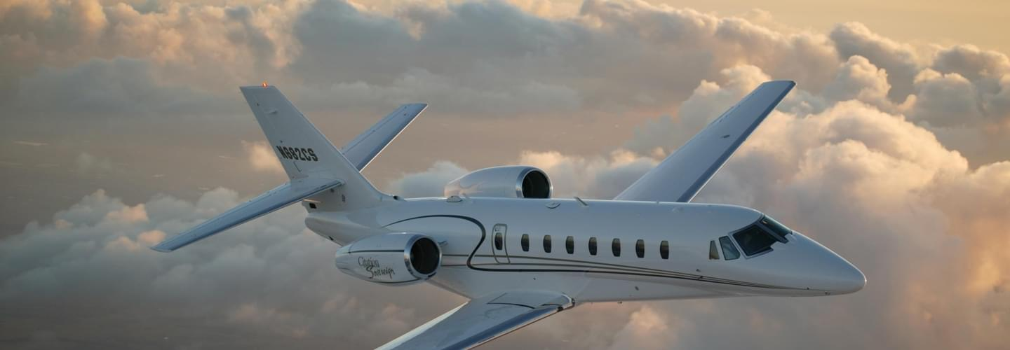 Light Jet Cessna Citation Sovereign to charter for private aviation flights with LunaJets,high performance aircraft offering excellent service