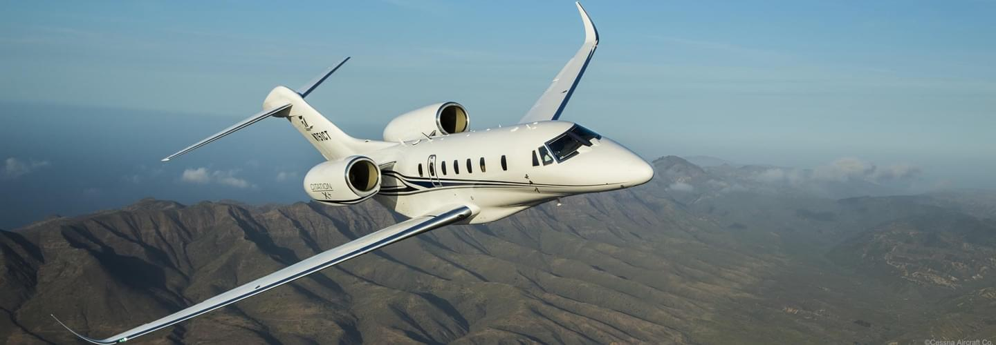 Super Midsize Jet Cessna Citation X to charter with LunaJets for excellent performance on intercontinental flights offering a spacious cabin