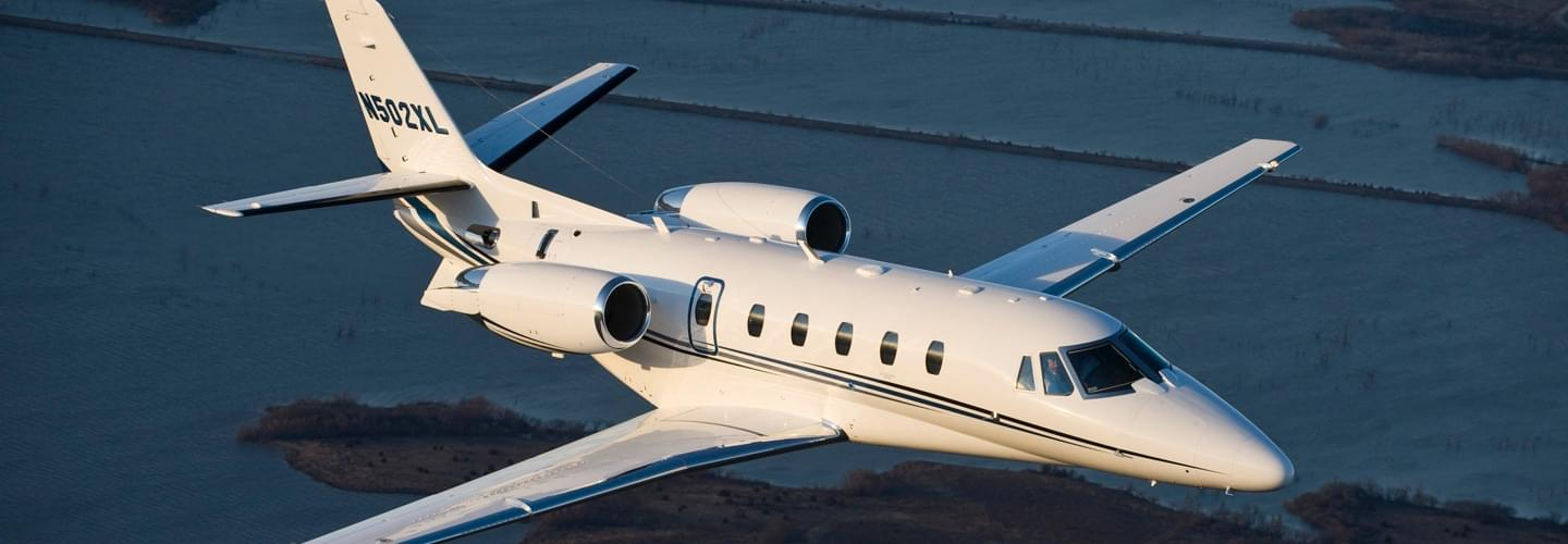 Super Light Jet Cessna Citation XLS to charter for private flights with LunaJets for intra-European flights for business trips or weekend getaways