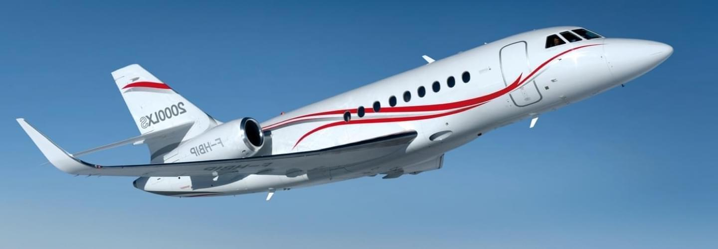 Dassault Falcon 2000LXS available for hire