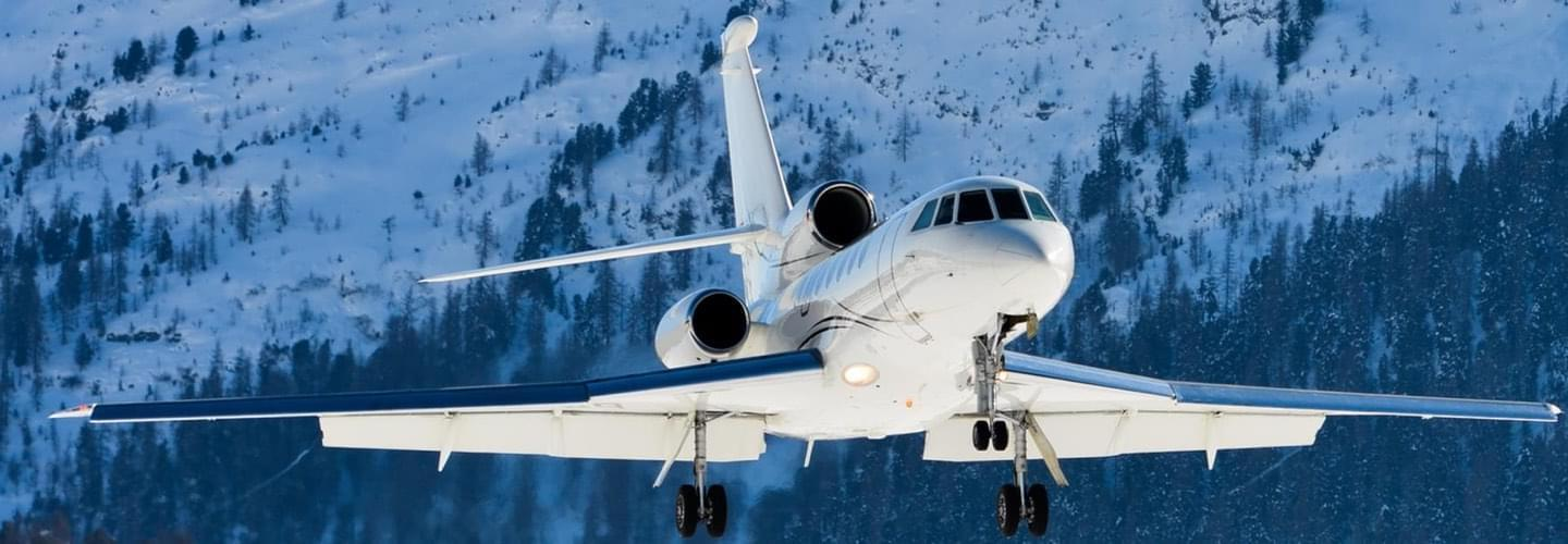 Midsize Jet Dassault Falcon 50EX to charter for private aviation flights with LunaJets, stylish corporate aircraft for medium-haul flights