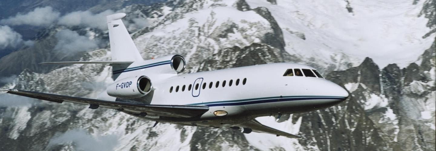 Super Large Business Jet Dassault Falcon 900 to charter for private aviation flights with LunaJets for long-haul trips, speed and efficiency