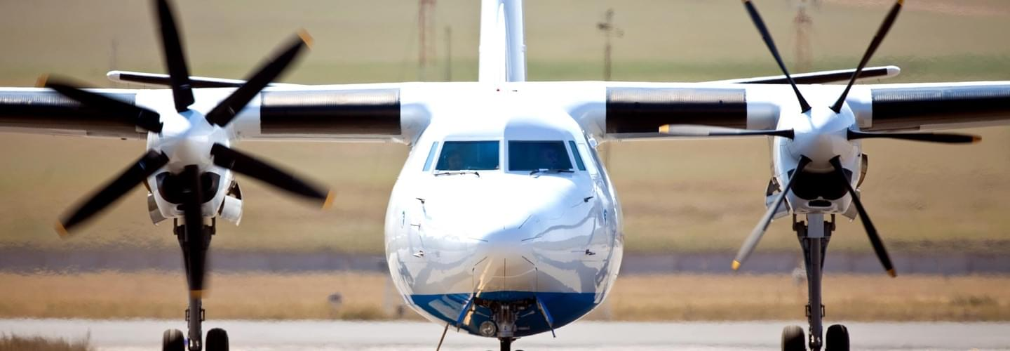 Turboprop Airliner Fokker 50 to charter for private aviation flights with LunaJets  for excellent reliability and durability, comfortable service