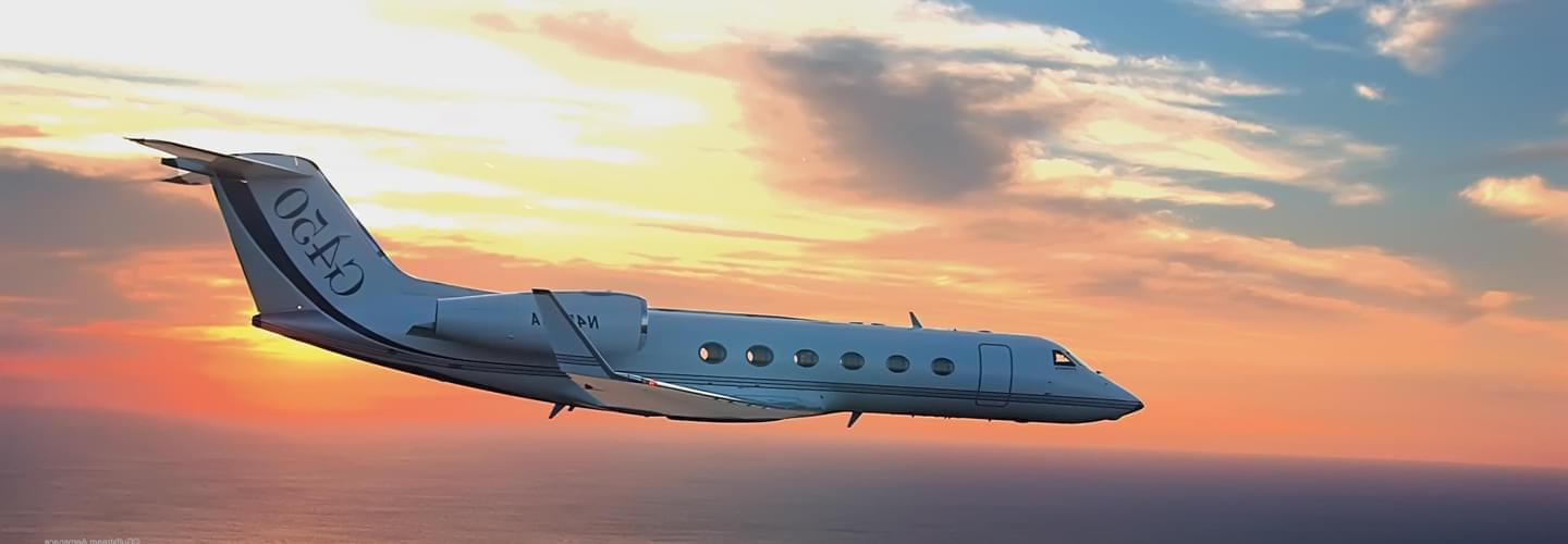 Super Large Business Jet Gulfstream G450 to charter for private aviation flights with LunaJets, high-performance aircraft, long-haul flights