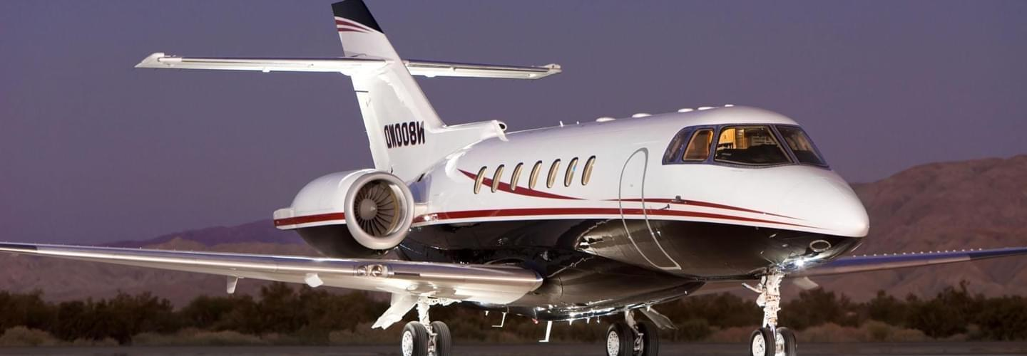 Midsize Jet Hawker Beechcraft 1000 to charter for private aviation flights with LunaJets for intercontinental journeys, performance and comfort