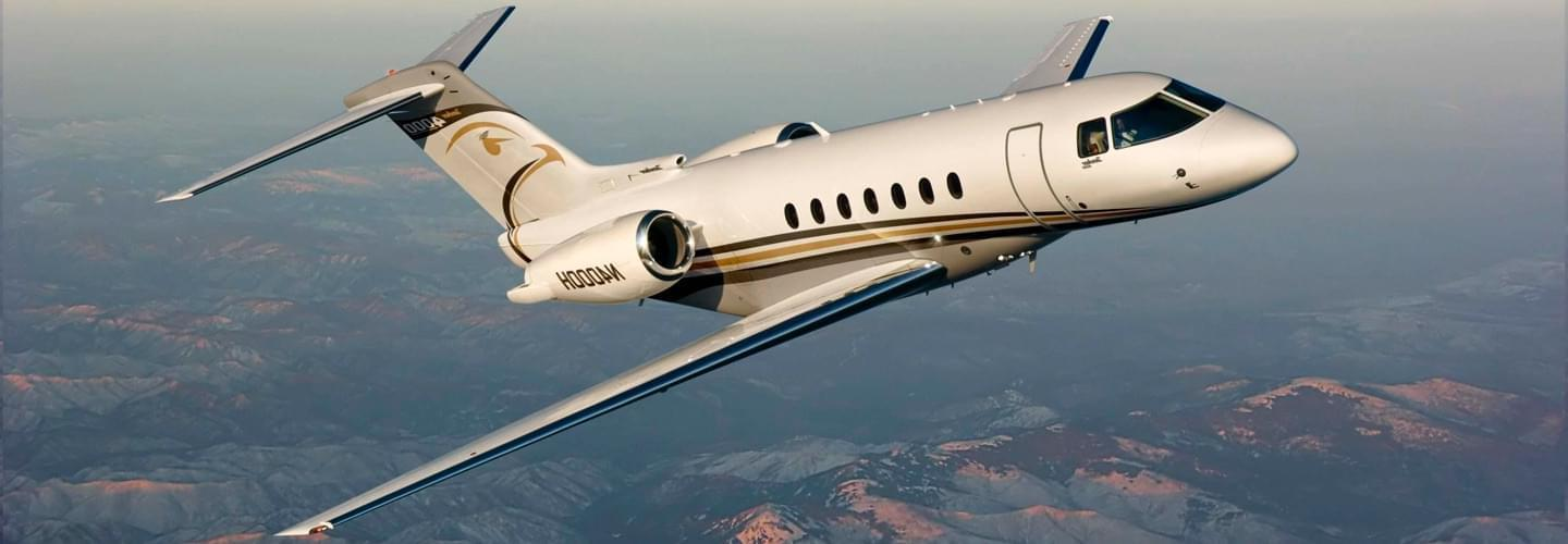 Midsize Jet Hawker Beechcraft 4000 to charter for private aviation flights with LunaJets, high performance, great fuel efficiency, flagship