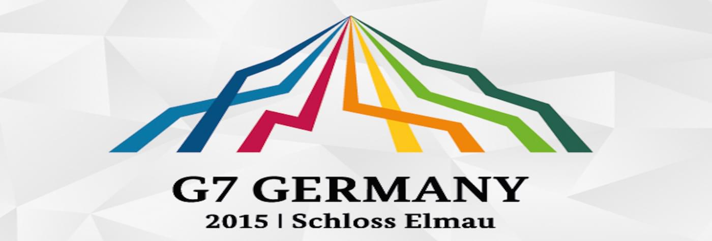 Banner of the G7 happening at Schloss Elmau in Germany in 2015