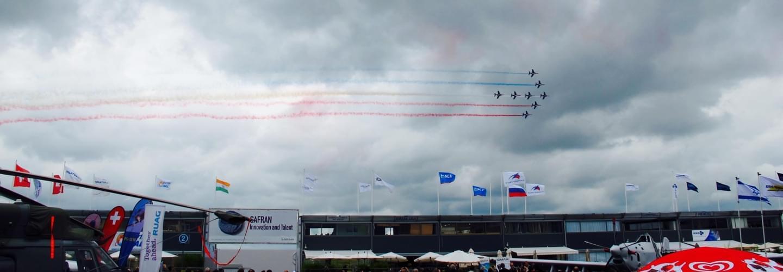 Avions lors du Salon International de l'Aéronautique et de lEspace à Paris-Le Bourget France