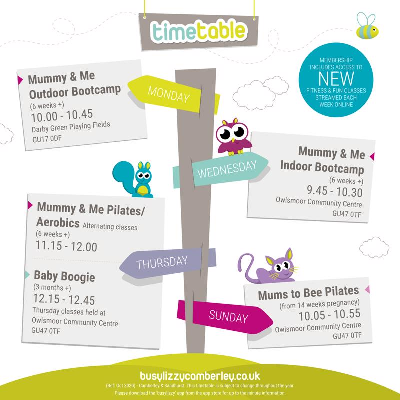 busylizzy Camberley timetable