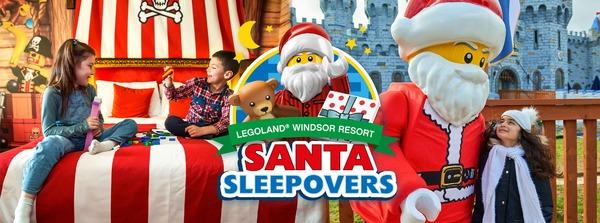 santa sleep over with legoland
