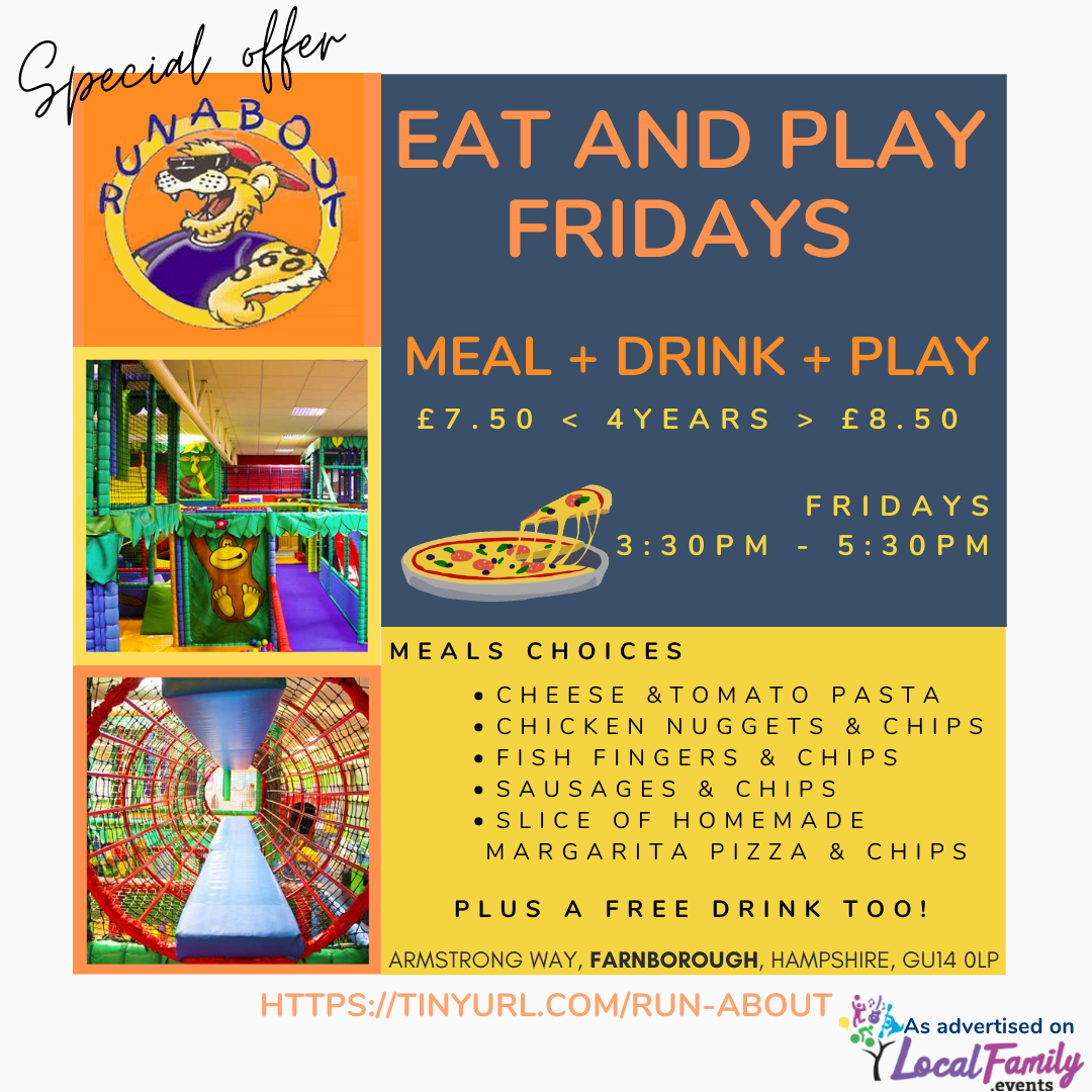 eat and play deal in Farnborough softplay