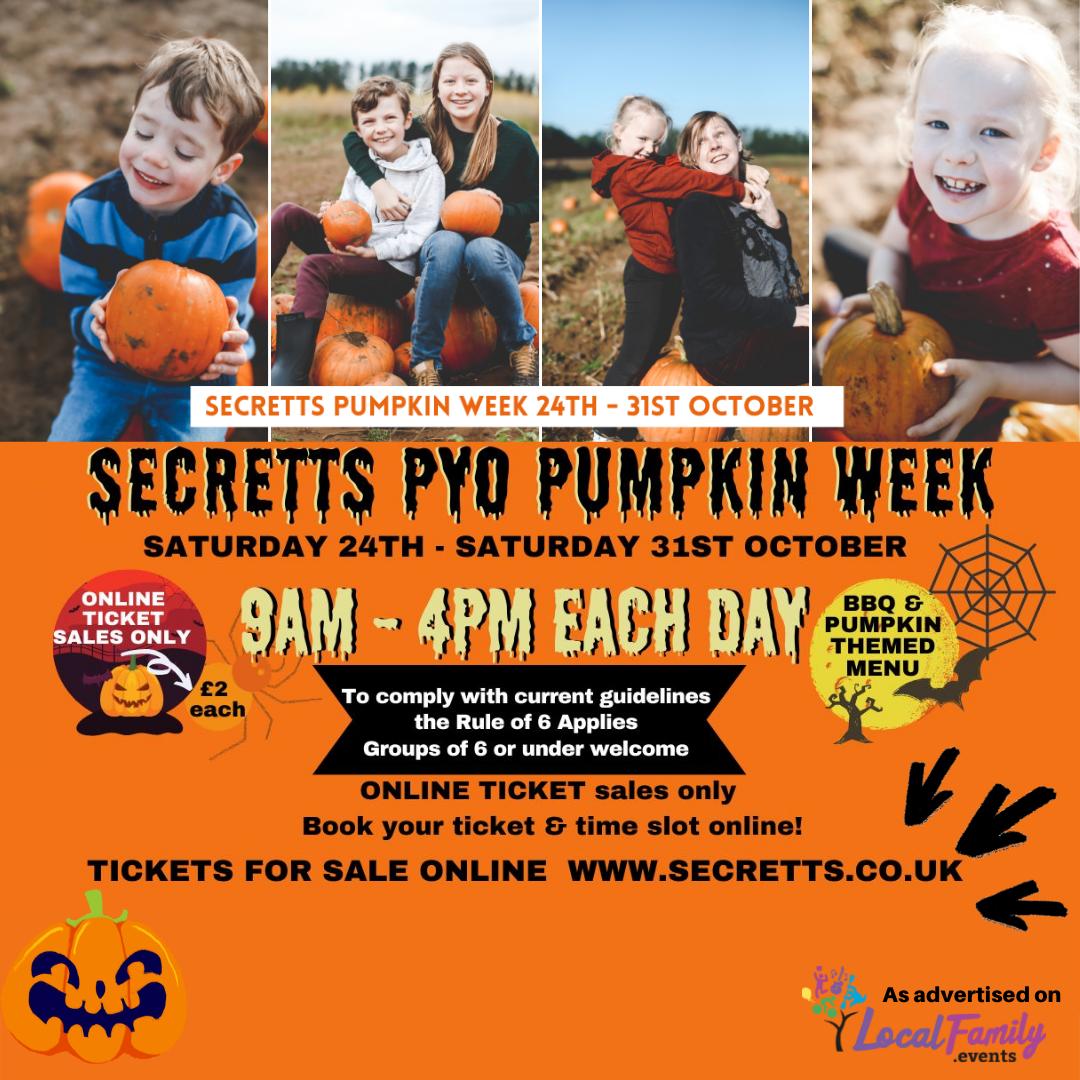 Secretts Pick Your Own Pumpkin Week