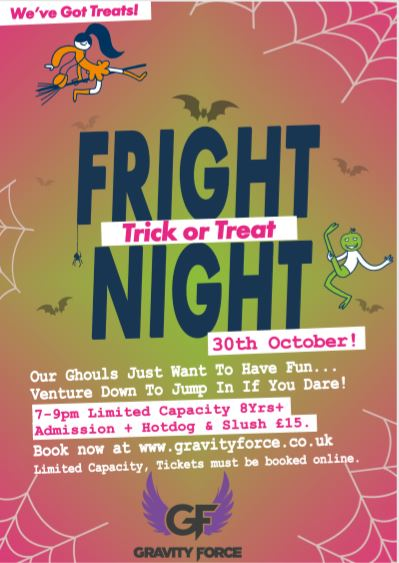 Gravity force Fright Night Trampoline party