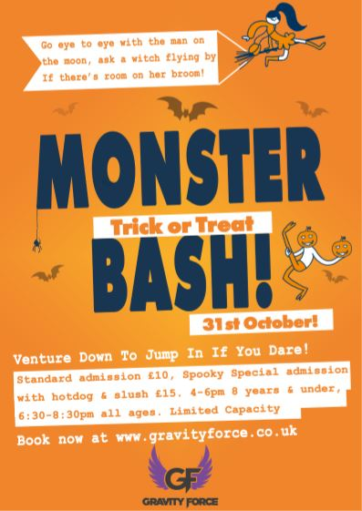 Gravity force Monster Bash Night Trampoline party