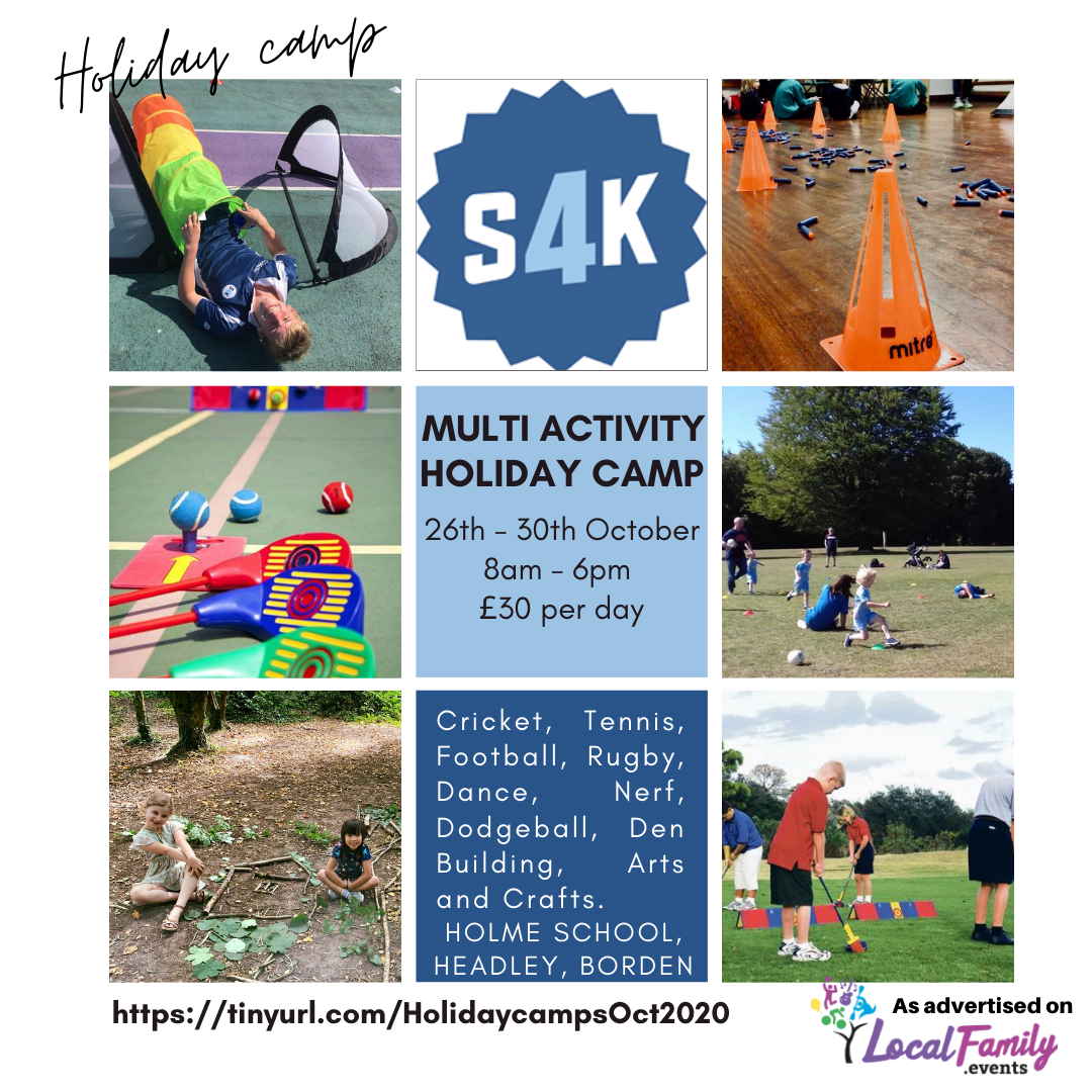Half term holiday camp poster for sport4kids