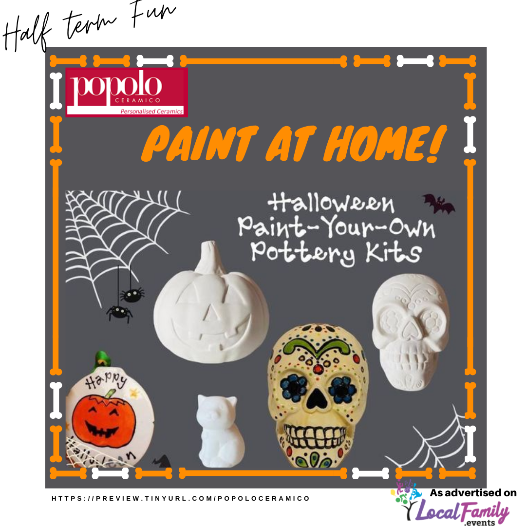 Paint at Home Halloween pottery