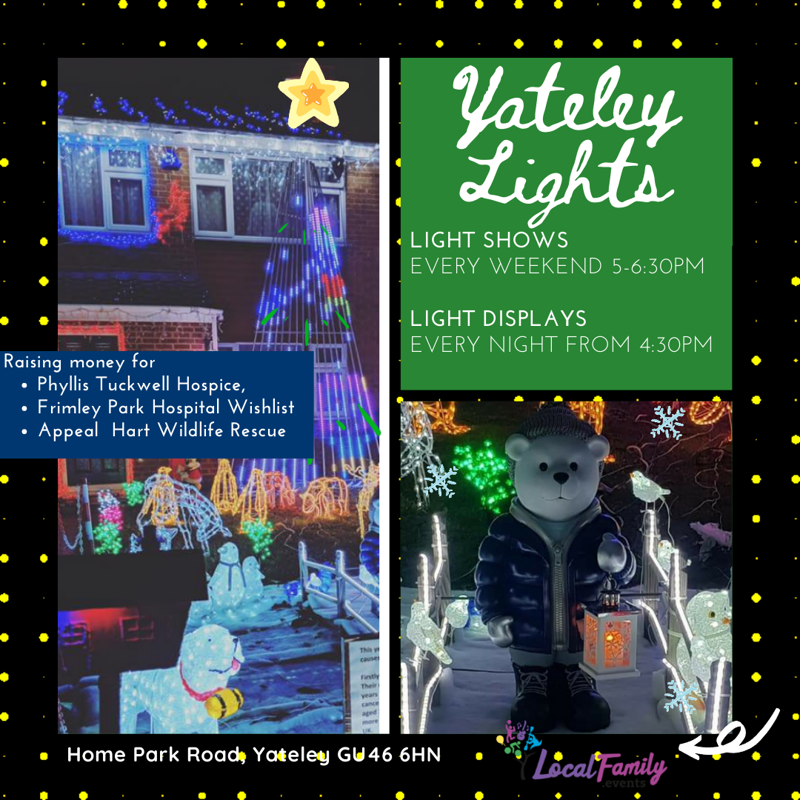 Yateley Chrismas lights for charity