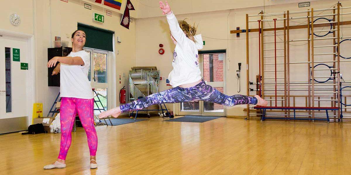 school children dancing ballet