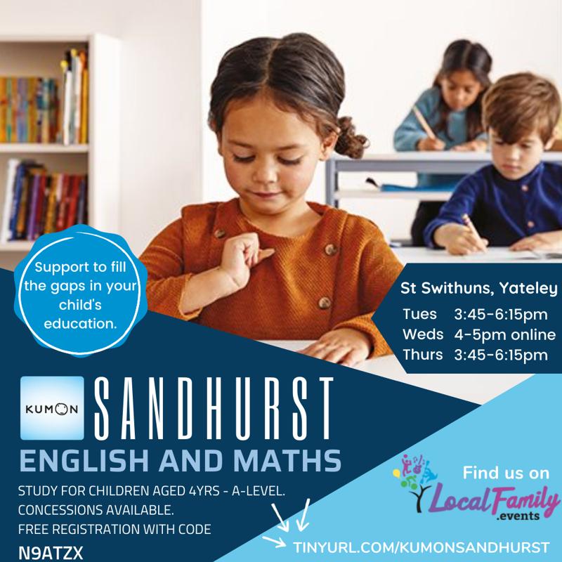 Poster for KUMON Sandhurst