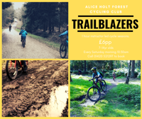 Trailblazers cycling club at Alice holt forest