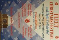 Fleet Christmas Festival & Christmas Lights Switch On