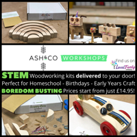 Woodworking STEM kits from Ash & Co