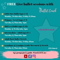Free online Primary / Level 1 Ballet classes (5-7yrs)
