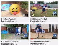 Kickers under 5's football Live session with S4K TV Sport and PE lessons to your livingroom