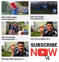 Under 5's Rugby Live session with S4K TV Sport and PE lessons to your livingroom