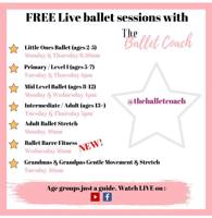 Free online Little Ones Ballet classes for 2yrs - 5yrs