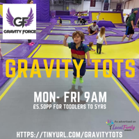 GRAVITY TOTS Trampoline sessions