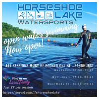 Morning Open water swimming at Horse shoe Lake