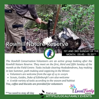 Rowhill Nature Reserve Volunteer sessions for 14yrs+